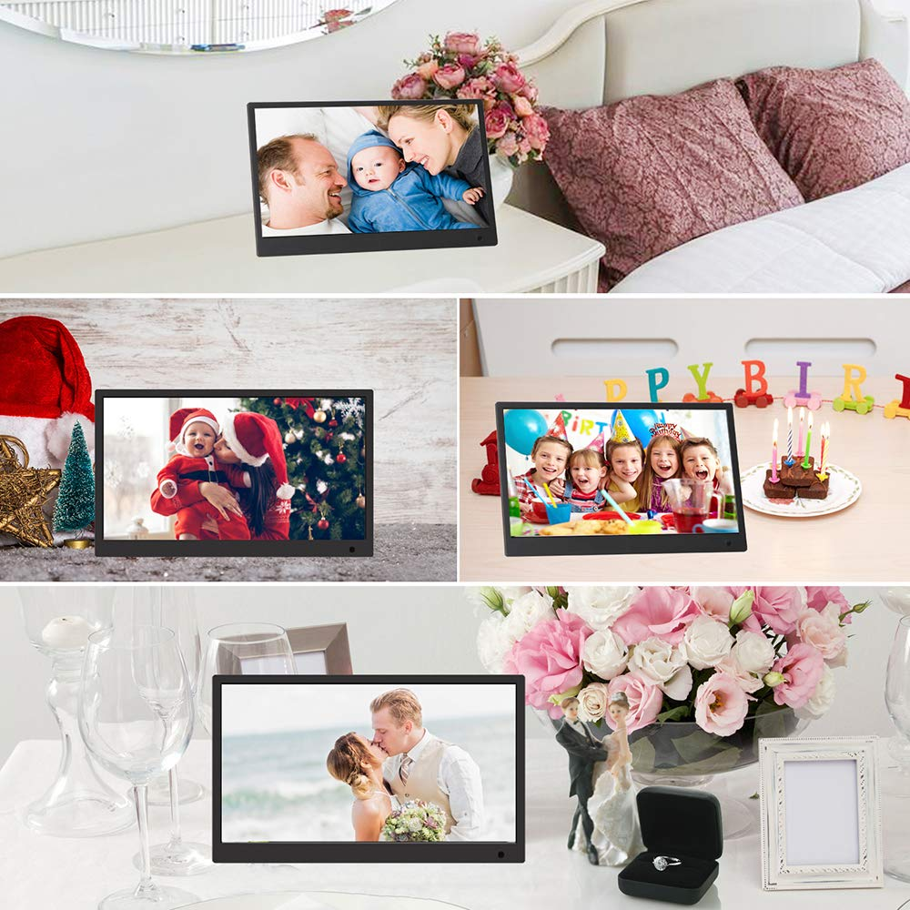 Digital Picture Frame,13.3 inch 1920X1080P with HDMI High Resolution Full IPS Photo/Music/Video Player Calendar, Ultra Slim Design with Remote Control by SSA (Image #9)