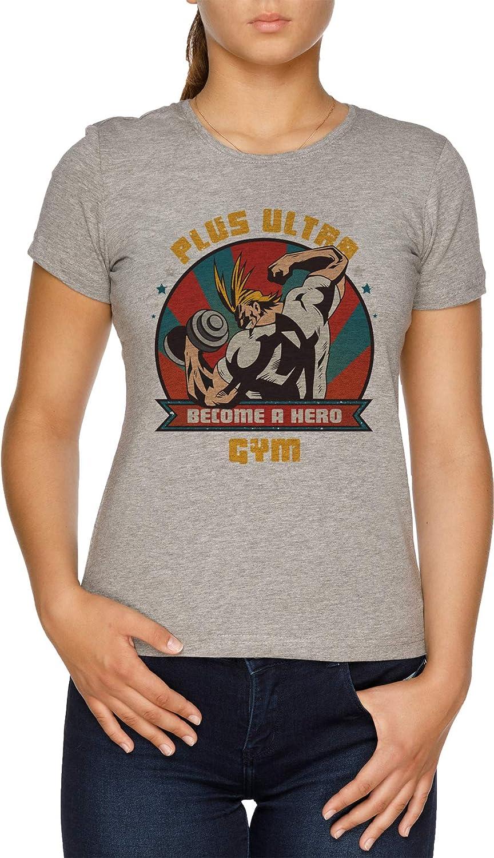 Plus Ultra Gym - Boku No Hero Academia Camiseta Mujer Gris: Amazon.es: Ropa y accesorios
