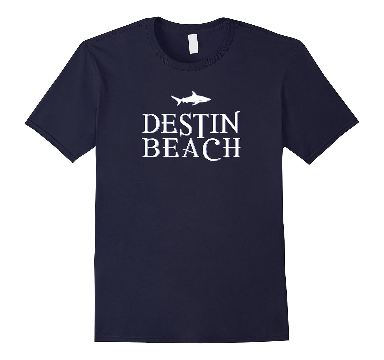 Destin Beach Shirt Florida Shark FL Souvenir Apparel-PL