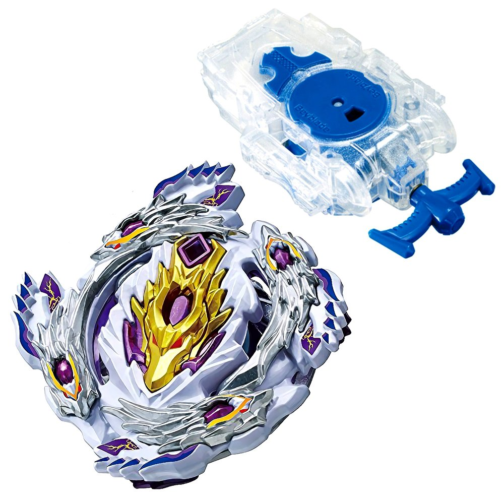 ベイブレードバーストb-110スターターBloody Longinus .13。Ji Beyblades Stater Set with b-99 Bey文字列Launcher Lクリアホワイト B07F7X422B
