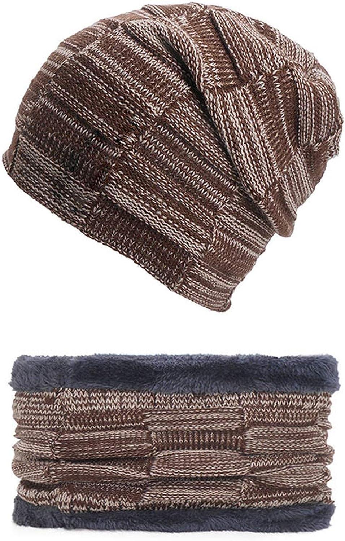 Winter Warm Hats Scarf Caps Knitted Woolen Winter Hat Beanies Lining Plush Ladies Hats Outdoor Ski Bonnet
