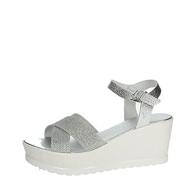 Cinzia Soft IG9735 001 Sandale Femme Argent Argent - Chaussures Sandale Femme