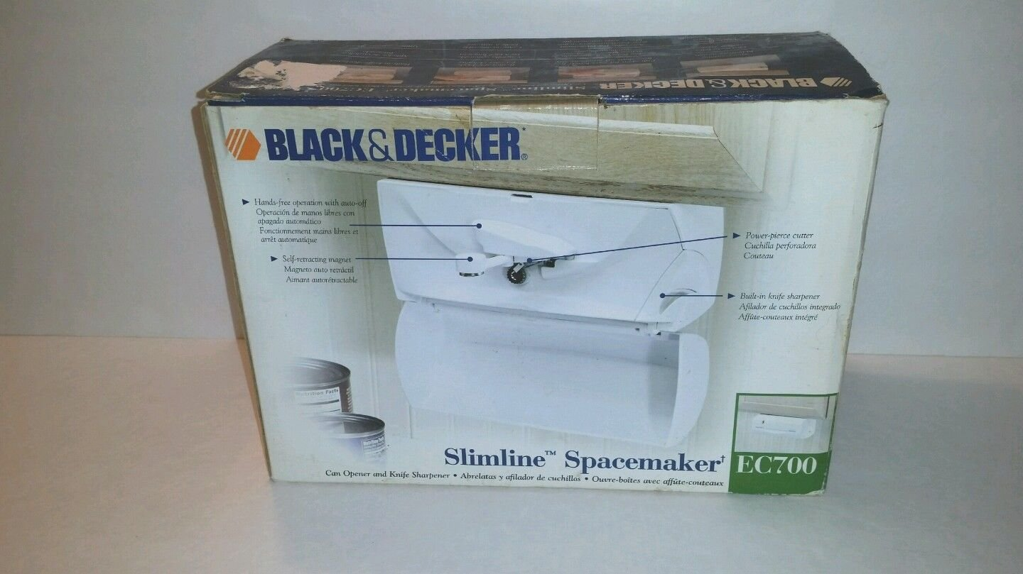 BLACK & DECKER Slimline Spacemaker Can Opener EC700