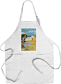 product image for York Beach, Maine - Beach Scene (Cotton/Polyester Chef's Apron)