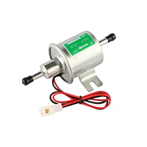 MOSTPLUS Universal Low Pressure Gas Diesel Inline Metal Solid Petrol 12V Heavy Duty Electric Fuel Pump for Motorcycle Carburetor ATV HEP-02A