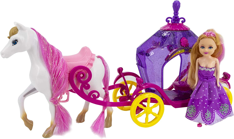 Toys Outlet - Lots of Fun Fashion 5406332456. Muñeca con carroza.