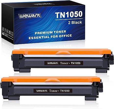 2 Negro Wewant Toner TN 1050 Reemplazo para Brother TN1050 Cartucho de T/óner Compatible con Brother HL-1110 1111 1112 1200 1210W 1202 1212 DCP-1510 1511 1512 1610W MFC-1810 1811 1815 1910