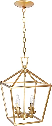 MOTINI 4-Light Gold Lantern Pendant Light