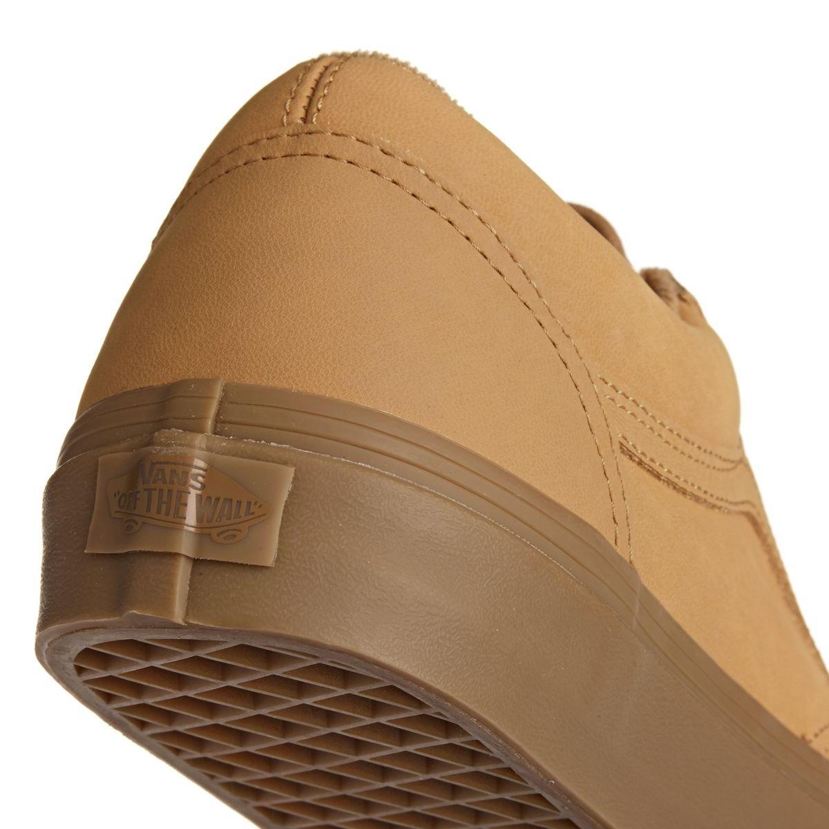 Vans Unisex-Erwachsene Old Skool Light Leder Sneaker, Schwarz Vansbruck Light Skool Gum Mono 94cbb2
