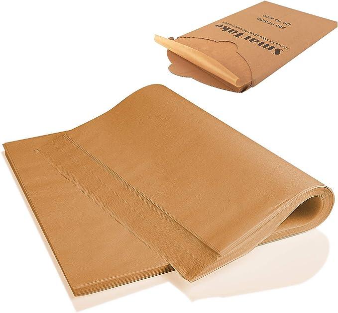 SMARTAKE 200 Pcs Parchment Paper Baking Sheets!