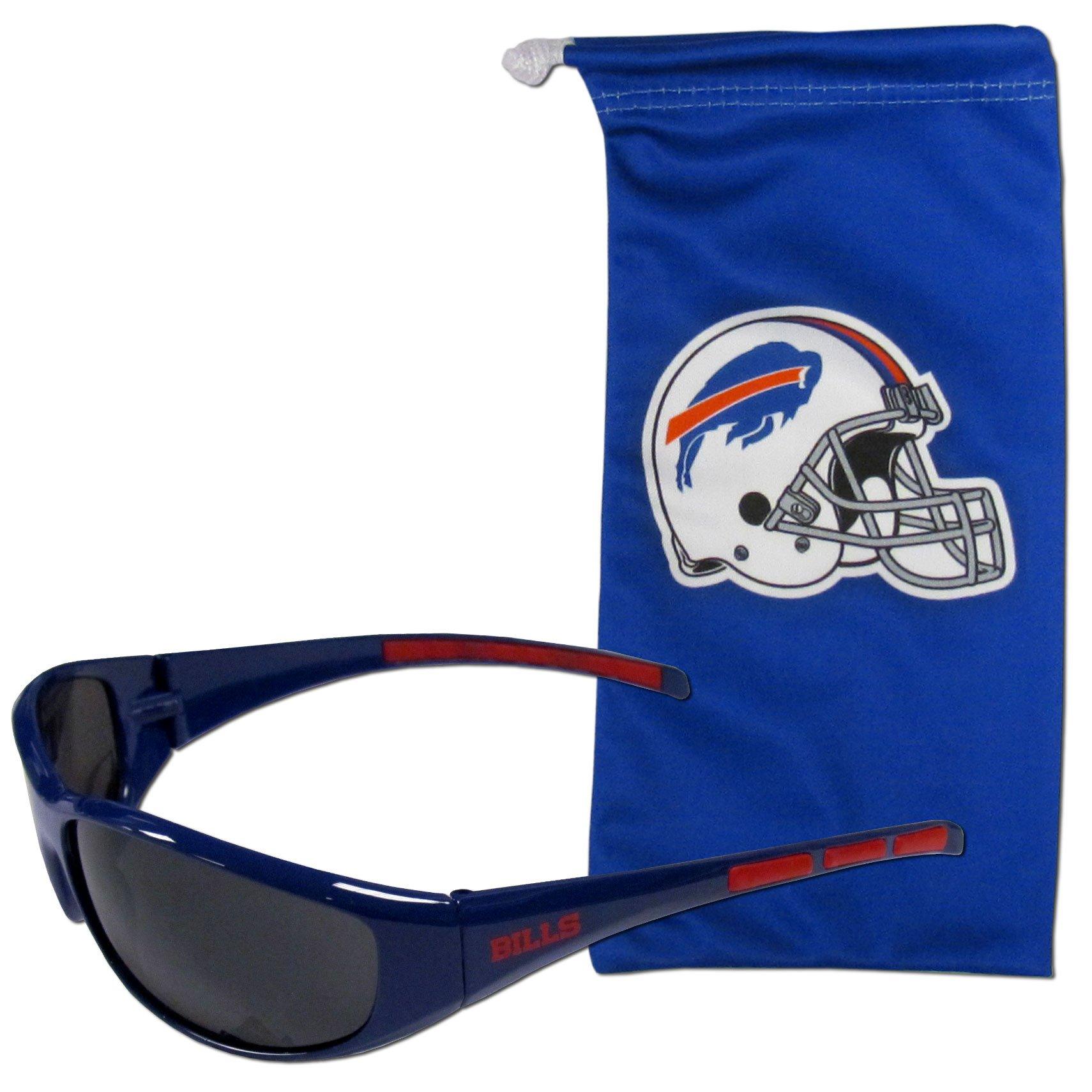 NFL Buffalo Bills Adult Sunglass and Bag Set, Blue