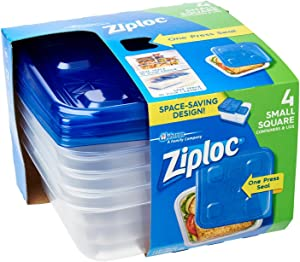 Ziploc 70935 Small Square Container 4 Count