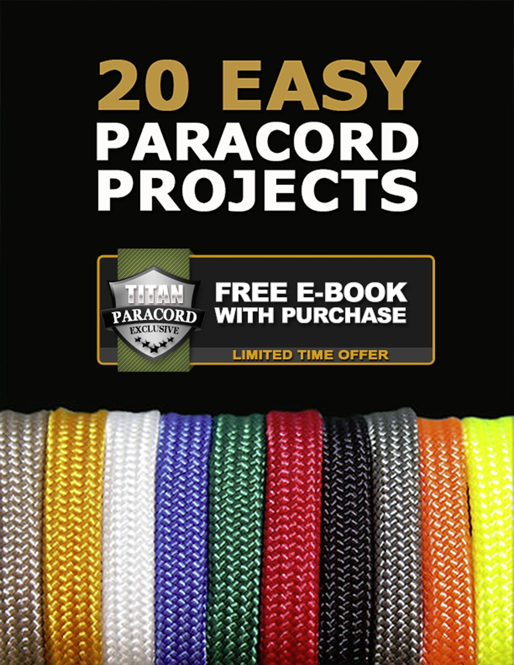 Titan WarriorCord | White | 103 Continuous FEET | Exceeds Authentic MIL-C-5040, Type III 550 Paracord Standards. 7 Strand, 5/32'' (4mm) Diameter, Military Parachute Cord. by Titan Paracord (Image #9)