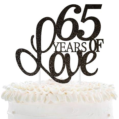 Amazon.com: 65 años de amor decoración para tarta 65º ...