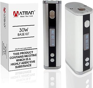 ATMAN Vape Mod Batería - 30W USB Cargador Caja Mod Batería -2200mAh Ecigarette 18650 Batería, Voltaje variable de salida de hasta 30W ajustable para el atomizador de tanque Vape Pen: Amazon.es: Salud