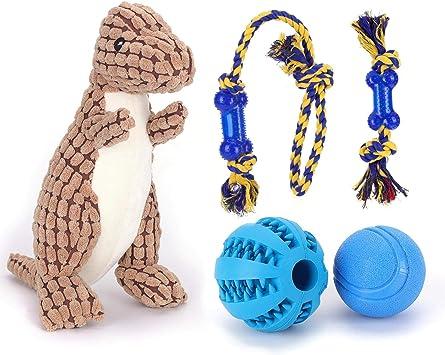 Nobleza – Pack de 5 Juguetes para Perro. Set Fabricado en Cuerda para morder. Incluye Bola de Entrenamiento para Comida: Amazon.es: Productos para mascotas