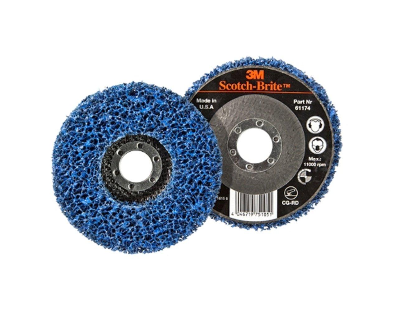 3M Scotch-Brite CG-RD 115 x 22mm GP Rigid Clean and Strip Disc Blue