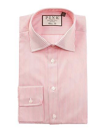 Thomas Pink Mens Grant Street Dress Shirt, Pink at Amazon Men's ...