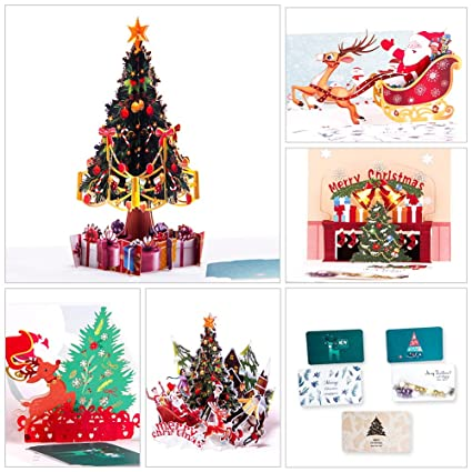 paper spiritz pop up christmas cards set of 5 upgrated holiday new year merry christmas - Cheap Christmas Cards In Bulk