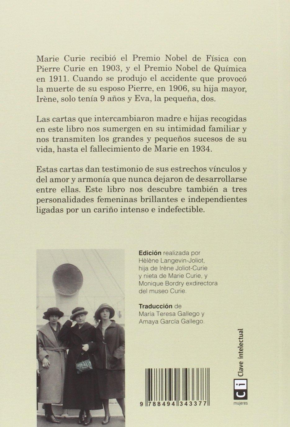 Marie Curie y sus hijas. Cartas: Marie Curie: 9788494343377 ...