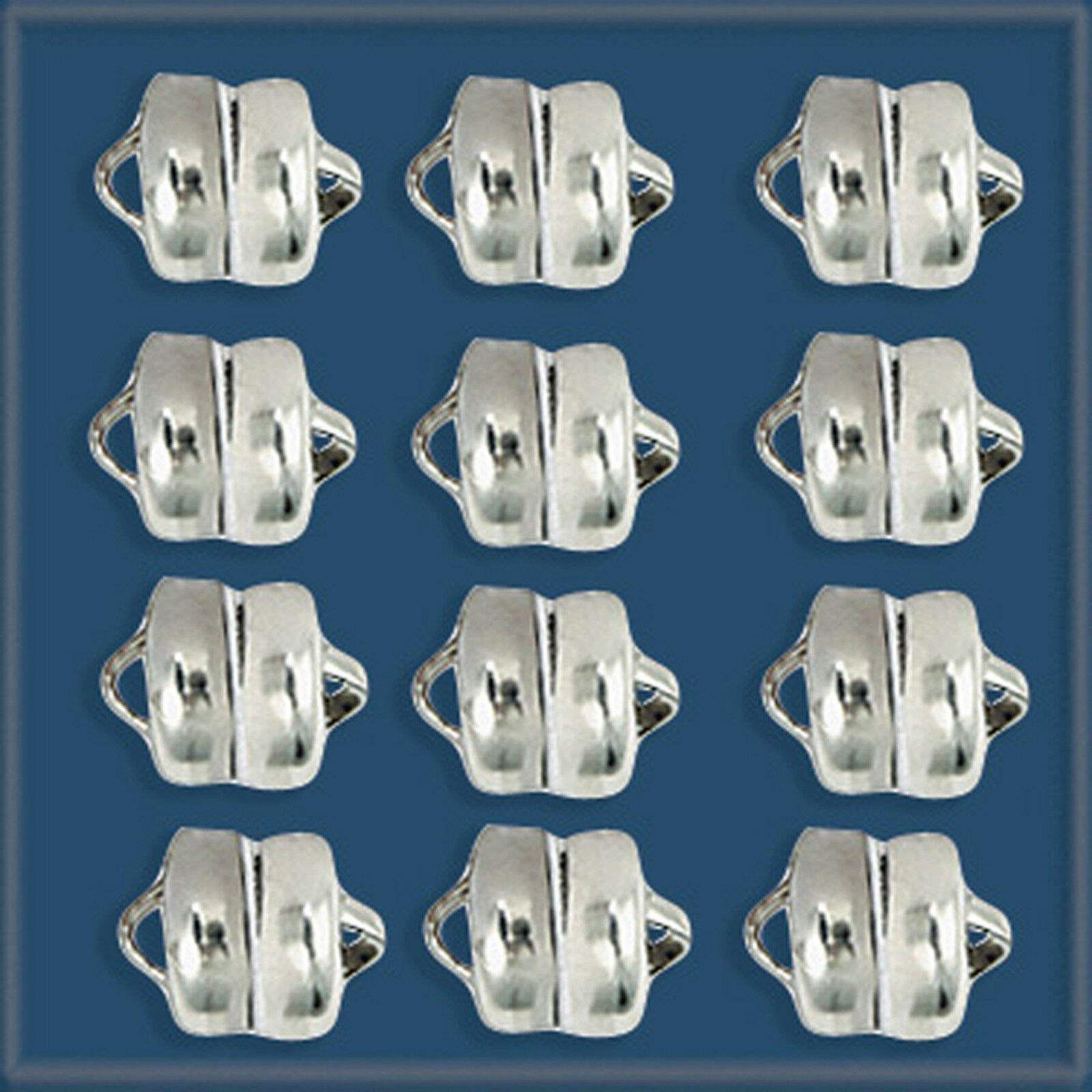 12pcs 6mm Sterling Silver 925 Magnetic Clasps by JETRIM (Image #1)