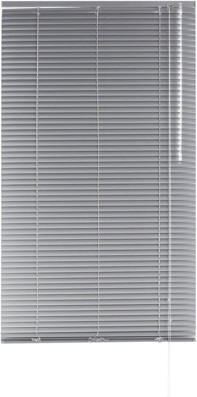 Blindecor - Veneciana de Aluminio, Lama de 25 mm, Plata, 80X250 cm