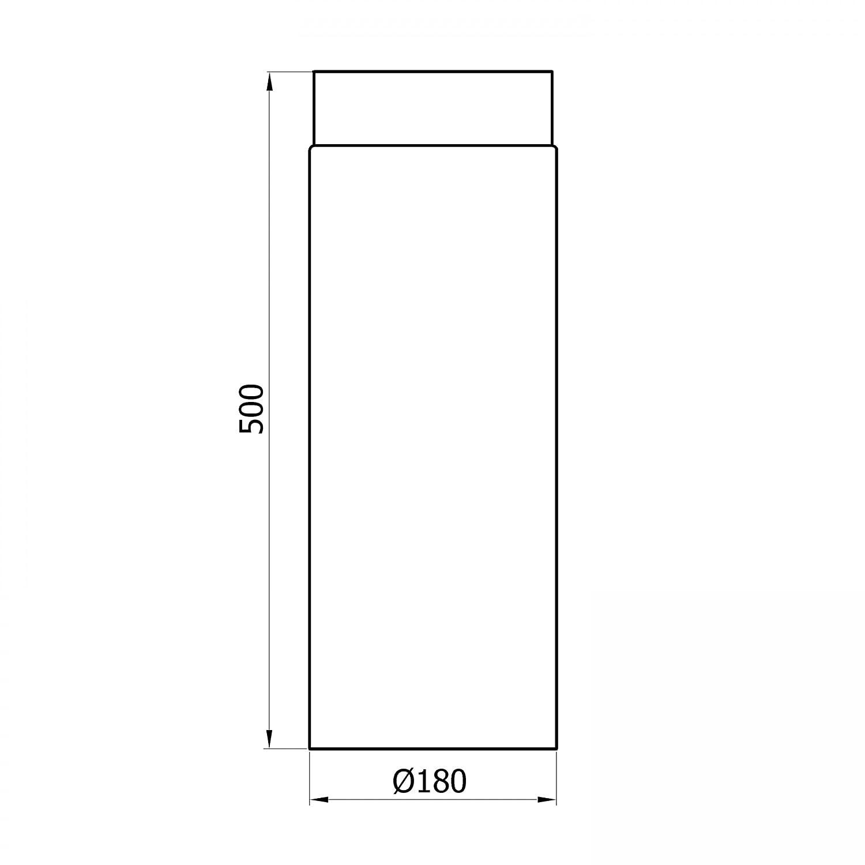 500 mm negro Raik SH003-180-SW gartinex//ESTUFA 180 mm