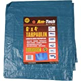 Am-Tech 6 x 4 Zoll Tarpaulin, blau, S4700