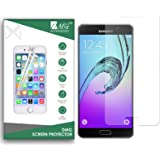 DMG Tempered Glass for Samsung Galaxy A7 2016, Ballistic Curved Glass Screen Protector for Samsung Galaxy A7 2016