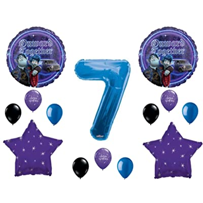 Onward 7th Happy Birthday Party Balloons Decoration Supplies Disney Movie: Everything Else