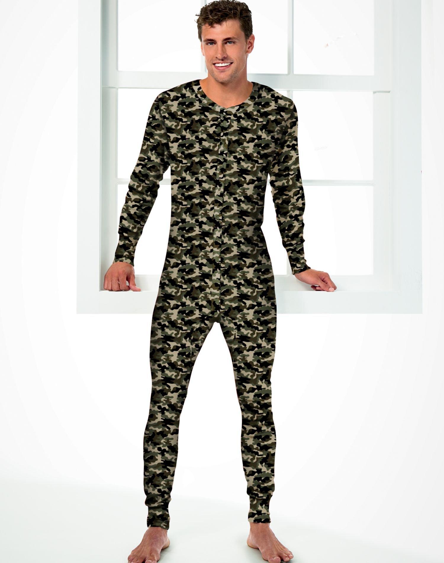 Hanes Men's Camo Thermal Union Suit, 4XL-Camo