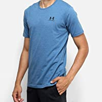 Camiseta Under Armour Sportstyle Left Chest SS Masculina - Preto e Cinza