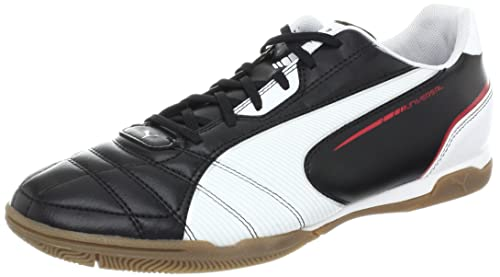 PUMA Mens Universal IT Soccer Cleat,Black/White/Ribbon Red,7 D