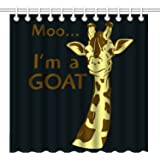 Wknoon 72 x 72 Inch Shower Curtain, Funny Giraffe Quote I'm A Goat, Waterproof Polyester Fabric Decorative Bathroom Bath Curtains