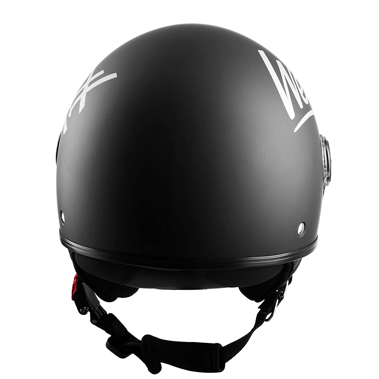 Vintage Stil ECE Zertifiziert Matt Schwarz Westt Classic Sun Jethelm Motorradhelm Helm