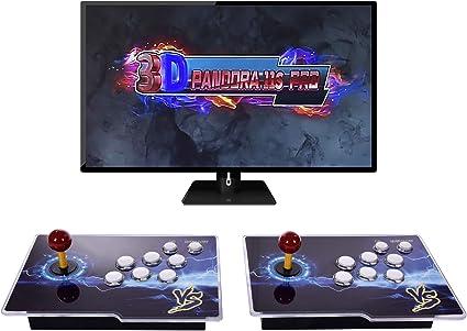[3399 HD Arcade Games] Pandora's Box 11S 2 Players Arcade Game Console 3D  Retro Video Arcade Game Console with Two Separate Joysticks and 3399 Retro  ...