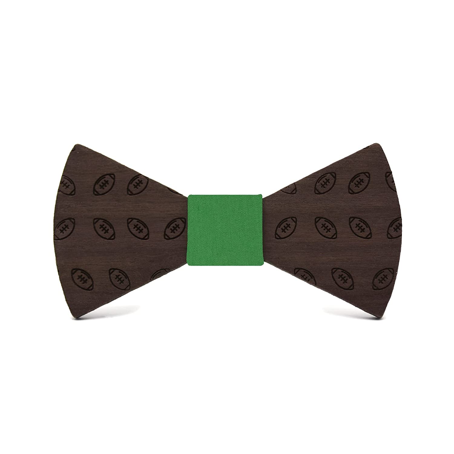 Wooden bow tie Football Fashion collection for men Sport design for an elegant and original handmade gift Wedding /& events