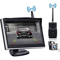 Hlyjoon Backup Camera 170 Degrees Wide View Angle Car Vehicle Reverse Camera Waterproof IR LED Night Version Rear View Camera with Wireless RCA Video Transmitter /& Receiver Kit