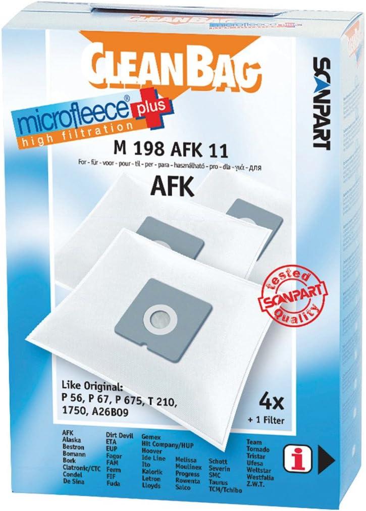 CleanBag M 198 AFK bolsas de vacío para ajuste P 56/P 67/P 675 T 210 1750: Amazon.es: Hogar