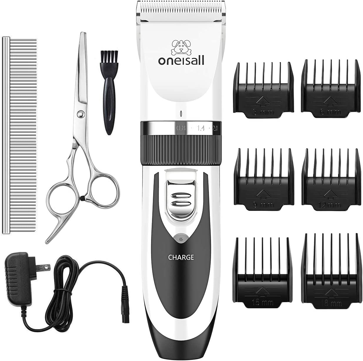 Oneisall Cordless Rechargeable Dog Shaver Clippers $29.74
