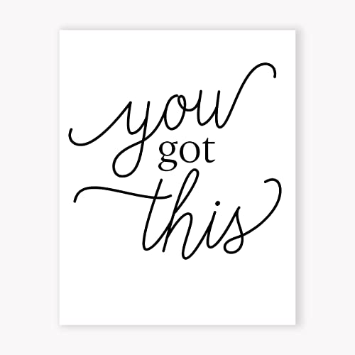 Motivational Wall Art Print, You Got This Poster, Inspirational Wall Art  For Office,