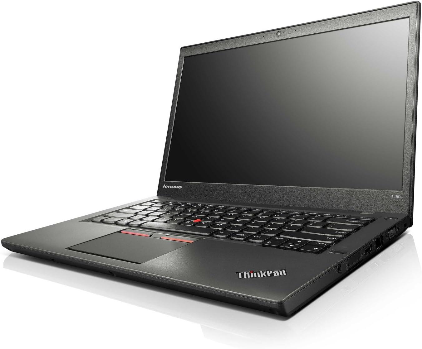 """Lenovo Thinkpad T450 Ultrabook 20BUS3MG00 (14"""" Display, Intel i5-5300U 2.3GHz, 8GB RAM, 256GB SSD, 720p Camera, UltraNav, Bluetooth 4.0, Windows 7 Professional 64-bit)"""