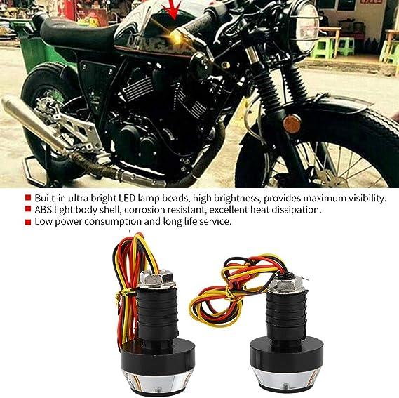 LED Handlebar Turn Signal 2Pcs DC 12V Motorcycle Handlebar Light Universal for Motorcycle ATV Electrombile Scooter ABS