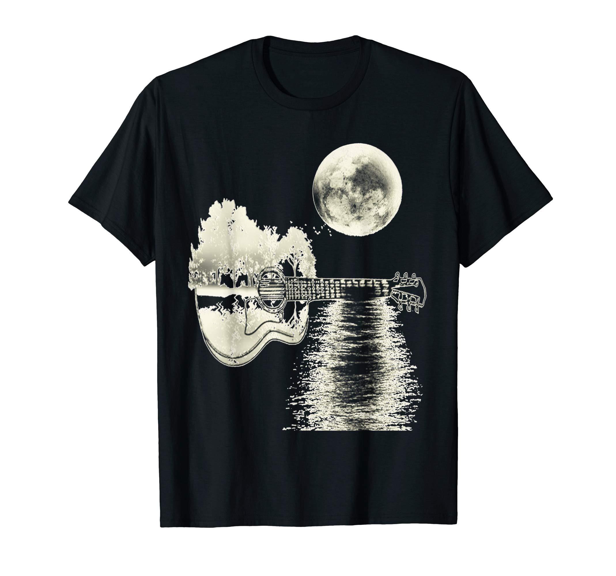 Acoustic Guitar Natur Design Guitar Player Gift T-Shirt by Ralph Graf