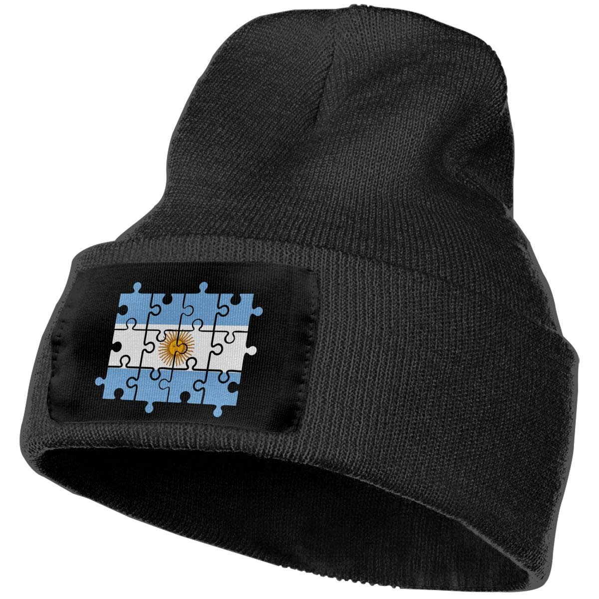COLLJL-8 Men//Women Argentina Flag Puzzle Outdoor Stretch Knit Beanies Hat Soft Winter Knit Caps