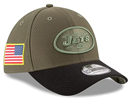 huge selection of bec12 2f76a Image Unavailable. Image not available for. Color  New York Jets New Era  NFL 39THIRTY 2017 Sideline  quot Salute to Service quot  Hat