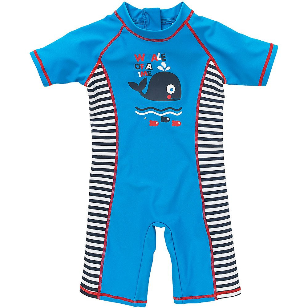 H2O Cute Whale of A Time Fish Sunsafe UPF40+ Boys and Babies All in One Piece Suit