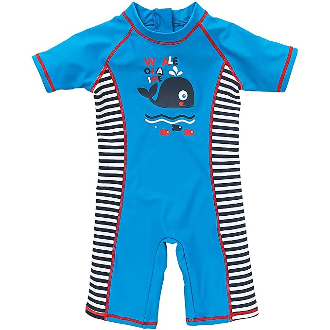 6f7d99ccca H2O Cute Whale of A Time Fish Sunsafe UPF40+ Boys and Babies All in One  Piece Suit: Amazon.co.uk: Clothing