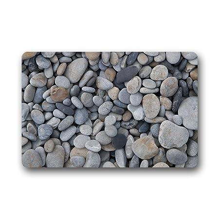 DOUBEE Custom Pebble Doormat Garden U0026 Home Non Slip Rubber Door Mat Indoor/Outdoor  Entrance