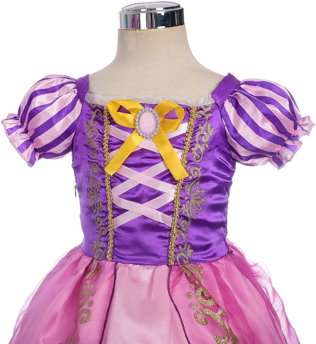 Lito Angels M/ädchen Prinzessin Rapunzel Kost/üme M/ädchen Prinzessin Kleid Verkleidung Party Gr 2 Jahre